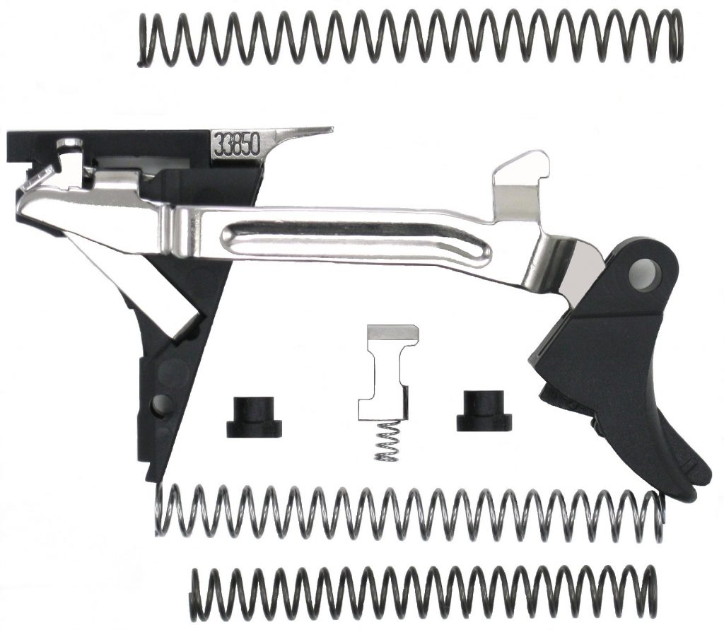 G44 Stage 1 is a Vanek Custom trigger kit for Glock sport/competition shooting